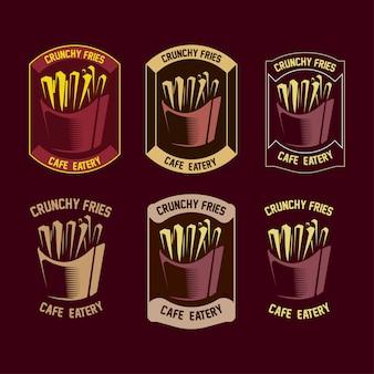 Set di logo fries