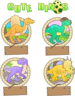Set di dinosauri divertenti