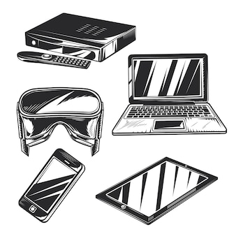 Set di gadget per creare badge, loghi, etichette, poster, ecc.