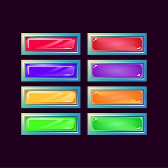 Set di diamante fantasia lucida gam e pulsante colorato gelatina