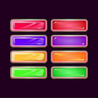 Set di gioco divertente diamante rosa e pulsante colorato gelatina