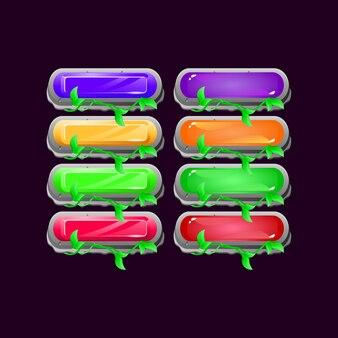 Set di gioco arrotondato foglie di pietra diamante e gelatina pulsante colorato