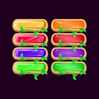 Set di gioco arrotondato foglie di legno diamante e gelatina pulsante colorato