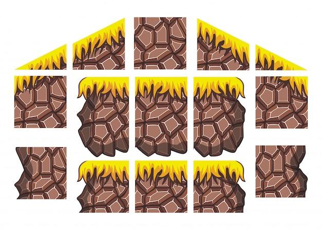 Set di giochi per tileset per lo sfondo del gioco