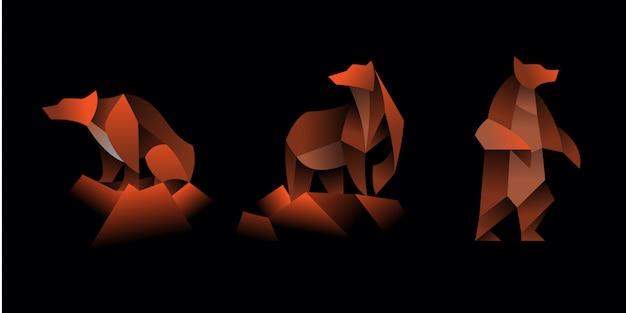 Set di orso geometrico