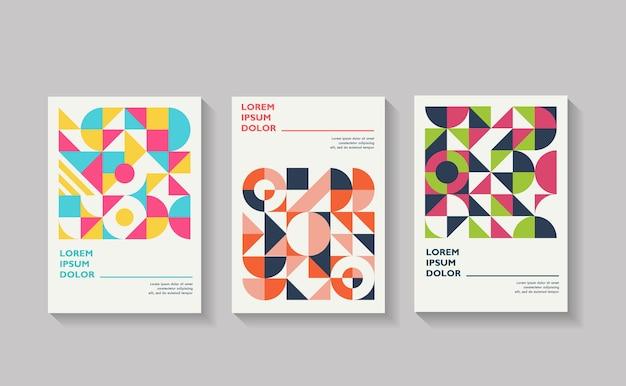 Set di copertine geometriche collezione di copertine vintage cool