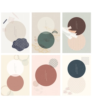 Insieme di elementi grafici moderni geometrici
