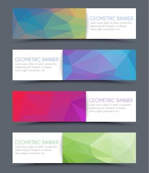 Set di banner poligonali geometrici