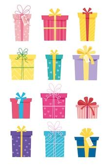Set di scatole regalo per la vendita delle vacanze regalo per il tuo compleanno 14 febbraio capodanno natale