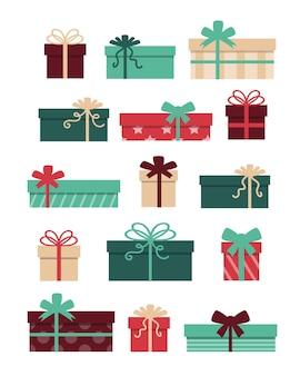 Set di scatole regalo con fiocchi