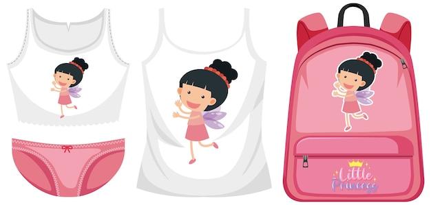 Set di abbigliamento da ragazza
