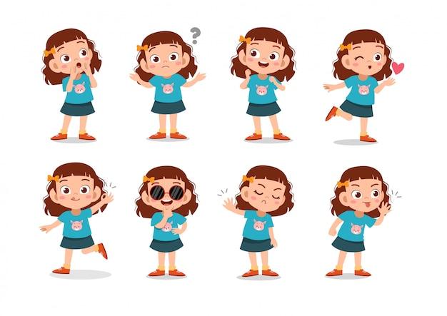 Set di personaggi di ragazze
