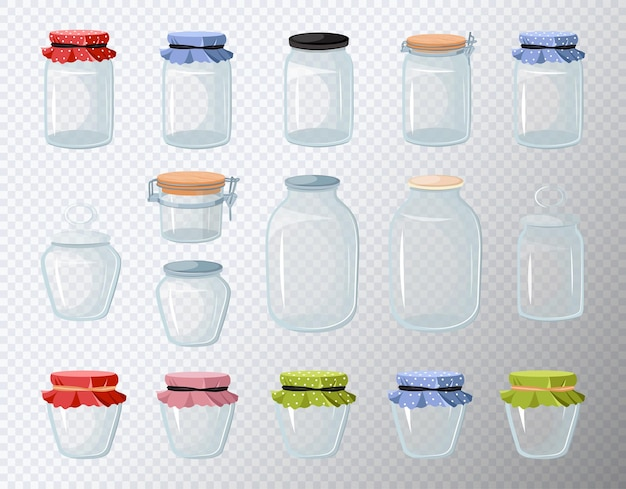 Set di barattoli di vetro