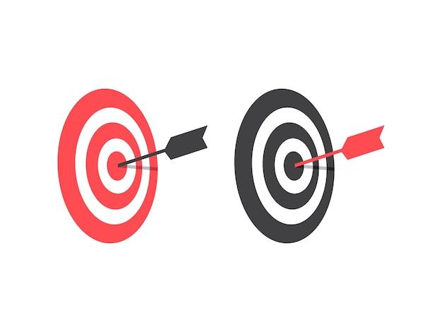 Fissare obiettivi concetto di design vettoriale target