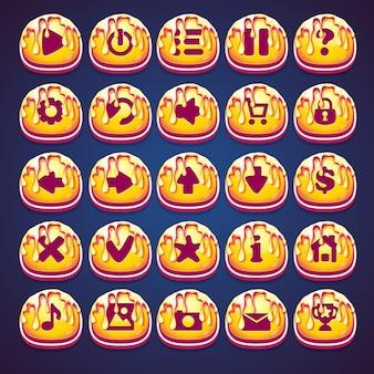 Set bottoni d'oro