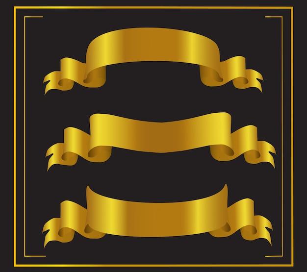 Set di nastri d'oro.