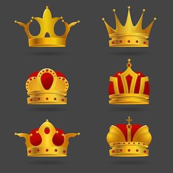 Set di corone d'oro