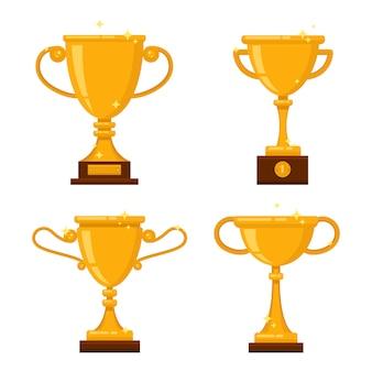 Set di tazze d'oro