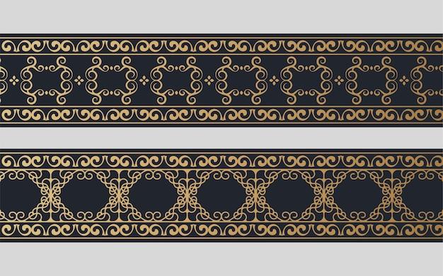 Impostare il design del bordo ornamentale dorato