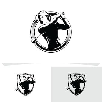 Set di modelli di progettazione di logo di golf
