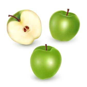 Set di mele verdi