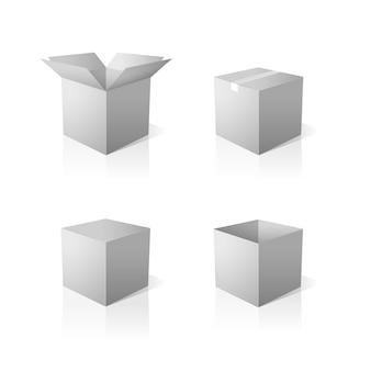 Set di scatole grigie
