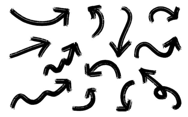 Set di frecce nere grunge
