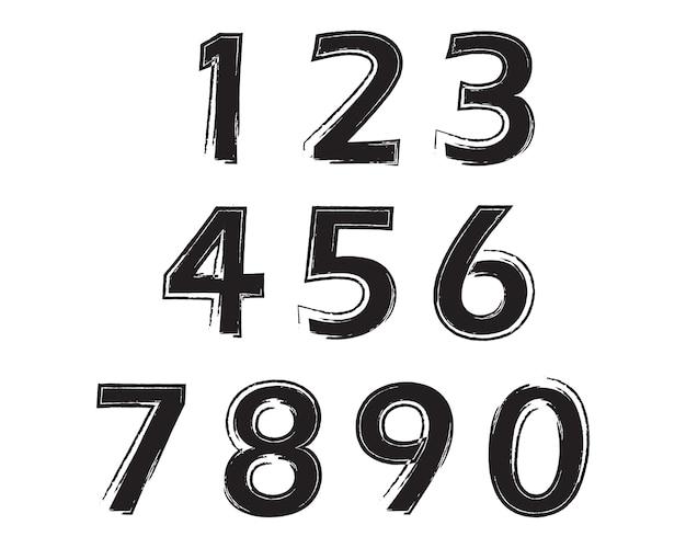 Set di numeri grunge
