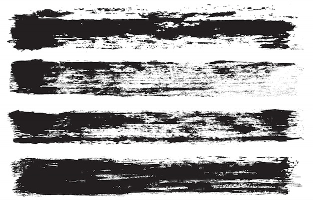 Set di linee di vernice grunge