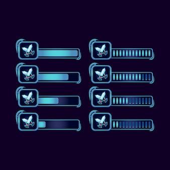 Set di barra di avanzamento gui fantasy rpg lama spada per elementi di gioco dell'interfaccia utente