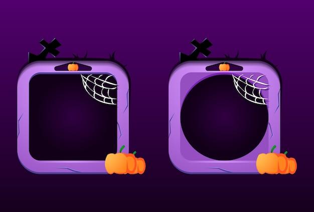 Set di gui cornice di confine di halloween