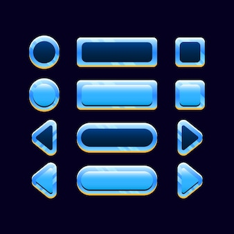 Set di icona del pulsante spazio gui per elementi di asset dell'interfaccia utente di gioco