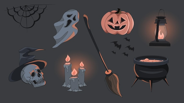 Un set di articoli per halloween