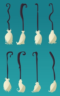 Set di scopa strega halloween