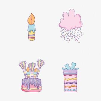 Impostare la decorazione di buon compleanno per celebrare l'evento