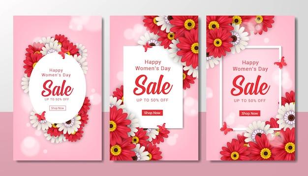 Set di vendita del giorno della donna felice