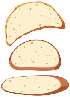 Set di toast e pane sani