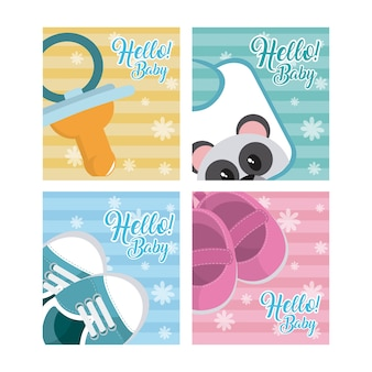 Set di ciao baby card