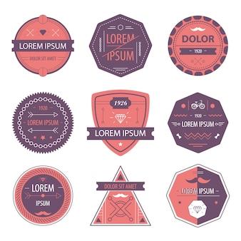 Set di etichette moderne hipster