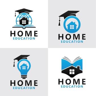 Impostare il modello di logo di educazione domestica