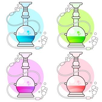 Set di narghilè illustrazione