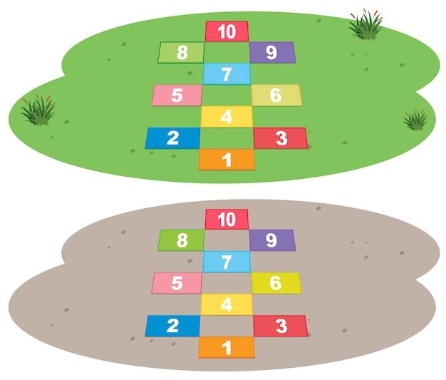 Set di gioco hopscotch