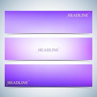 Set di sfondi multicolori orizzontali per il tuo design. illustrazione