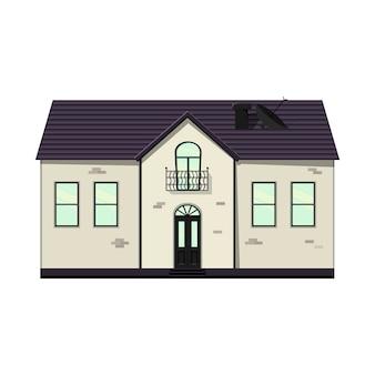 Insieme di case su uno sfondo bianco per la costruzione e il design. stile cartone animato. illustrazione vettoriale.