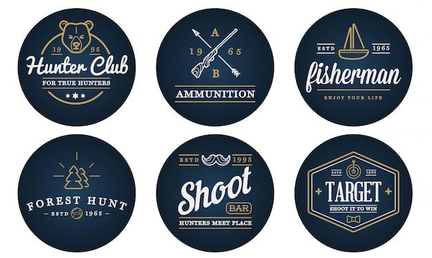 Set di elementi sportivi da campeggio di caccia