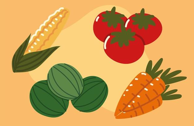 Imposta icona frutta e verdura