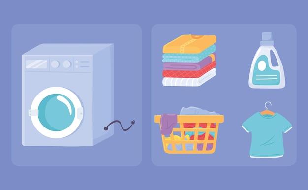 Imposta icona lavanderia