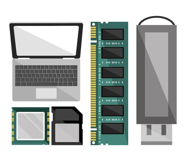 Set icone computer