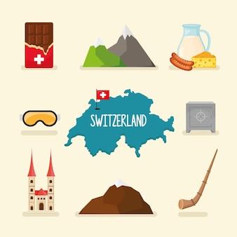 Set di icone della svizzera