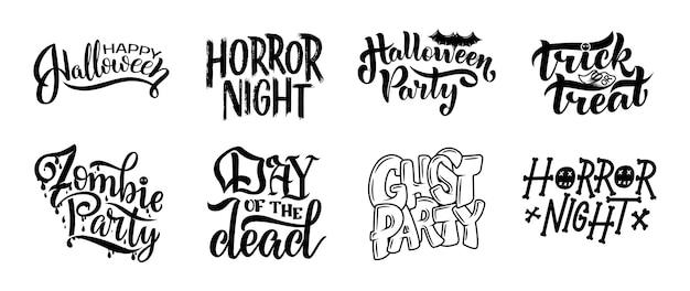 Set di illustrazione. lettering disegnato a mano moderno ed elegante.